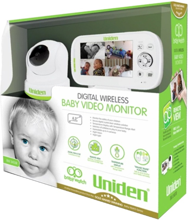 uniden bw 3451r 4 3 inch digital wireless baby monitor with pan tilt zoom ptz. Black Bedroom Furniture Sets. Home Design Ideas