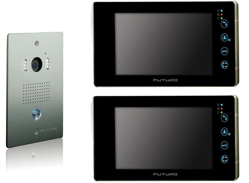 futuro-video-intercom-kit-with-2-x-black