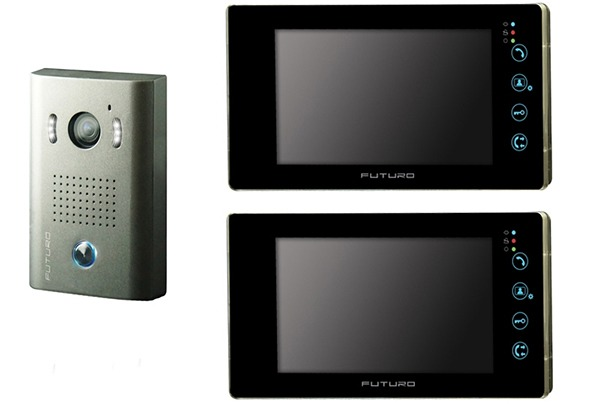 futuro-video-intercom-kit-with-2-x-black