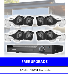 Free upgrade Uniden Pro-Series from 8CH to 16 Channel CCTV Recorder
